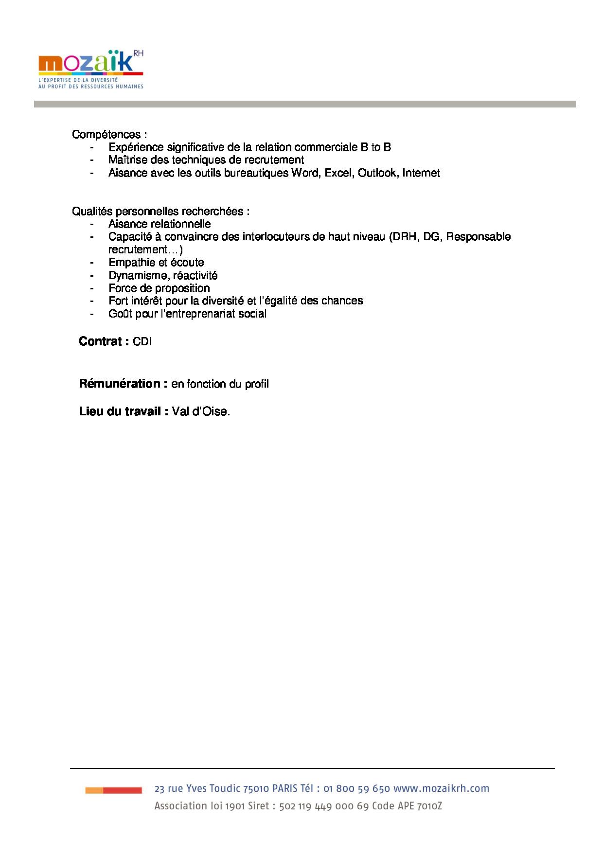 FDP Consultant en recrutement Val d'Oise suite